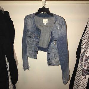 Torrid denim cropped jacket